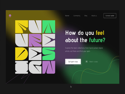 Future landing page design motion graphics home page web animation web landing page animation website