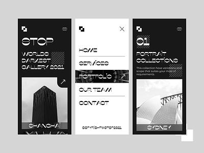 Stop App Concept modern app creative app black and white paintings arts nft art nfts uiux typography design ui app design app