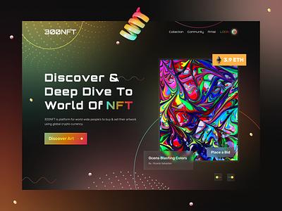 NFT Marketplace Website nft art webux webui webdesign marketplace nft marketplace nft uxdesign uidesign uiux website web design ui