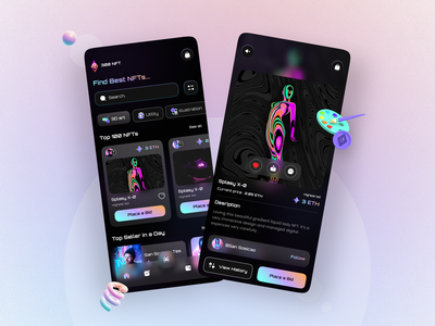 NFT APP mobile design uiux ux ui app design app arts nft art nft