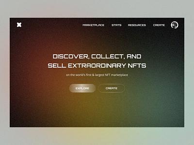 NFTs Website animation nem blockchain binance ethereum art ui dark modern cryptocurrency web platform gallery cryptoart crypto nft