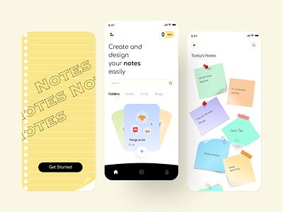 Notes App notes app ux organizer to do app mobile app design ui ux sticky notes notes app design ui design app