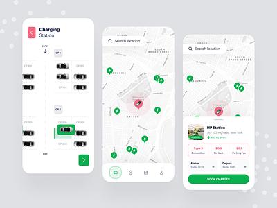 EV charging app online map ev charge vehicle charging app car electric electric vehicle ev car ev charging station ev charger ev ui app design mobile app