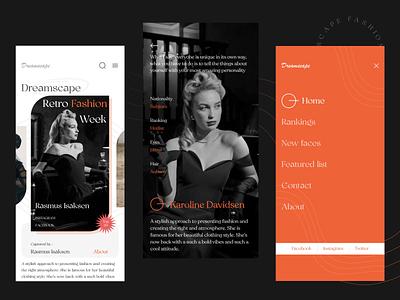 Dreamscape App ui design ux uiux model fashion creative model app fashion app dreamscape ui app design design app