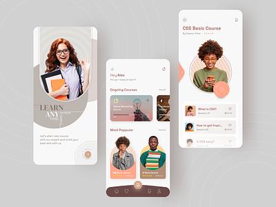 Online Education app learn study online study study app courses education online education uiux ui app design design app