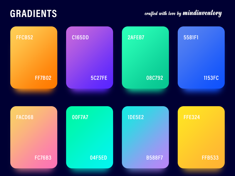 Gradient Palettes (Freebies) psd photoshop iphone ipad ios gradients gradient freebie app android