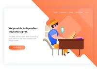 Insurance service landing page