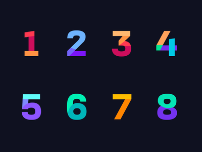 Numeric Letter colorful 12345678 numeric letters numbers