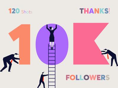 10K Followers! typography followers follower colours colors 10k 10000
