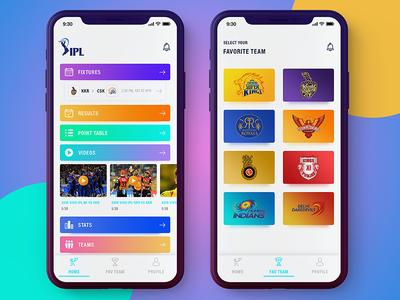Ipl app redesign live match live score statistics videos teams iphonex app score cricket ipl