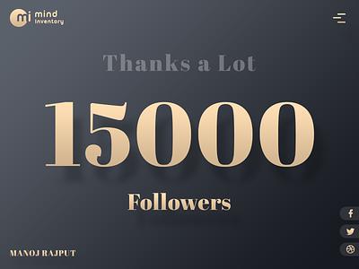 15000 Followers dark golden typography followers follower colours colors 15k 15000