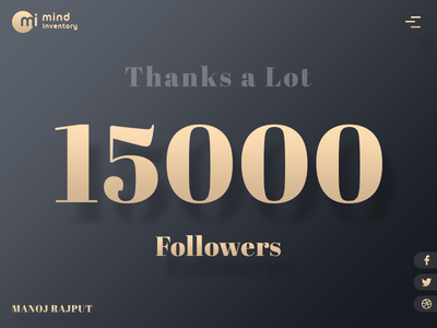 15000 Followers dark golden typography followers follower colours colors 15k 15000