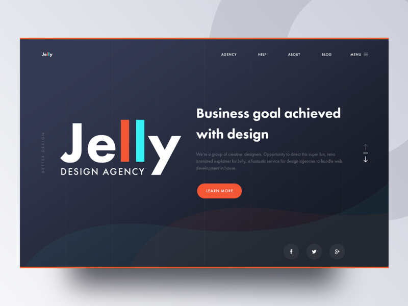 Jelly Agency business ux ui colorful gradient learning bitcoin blockchain ethereum cryptocurrency designagency jelly dark design web website hero image landing page agency