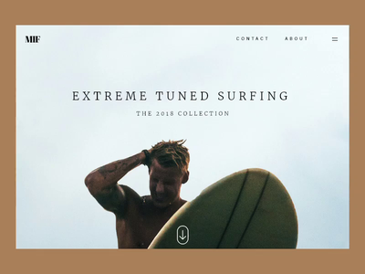 Surfing parallax effect parallax surf art ocean water animation motion landing page paralax effect effect paralax web surfingboard board surfing