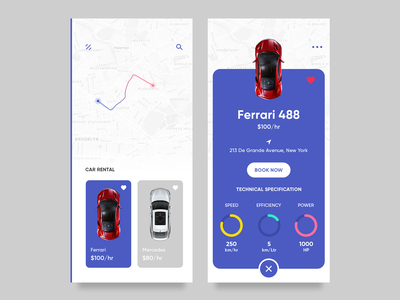 Car Rental App card map location ride uber txi design ux ui car booking app taxi app ride sharing cab booking