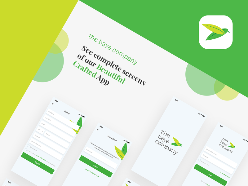 The Baya App detail page case study construction property green design ux ui android iphonex ios app the baya baya
