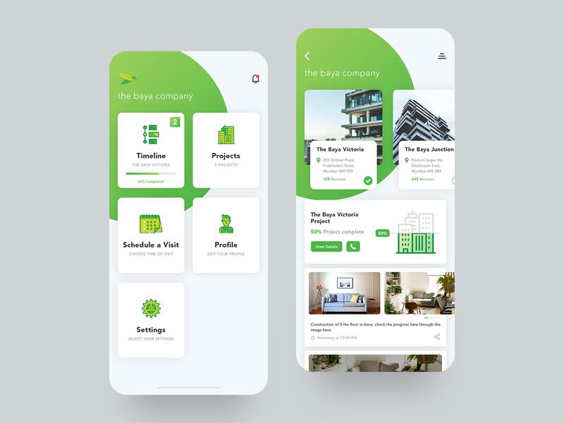 Initial Baya App mockup mockups initial crafted green design ux ui trending andoid iphonex ios app baya