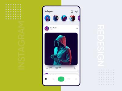 Instagram Redesign animation timeline uiux ux ui interaction motion animation swipe storeis redesign profile design concept instagram app