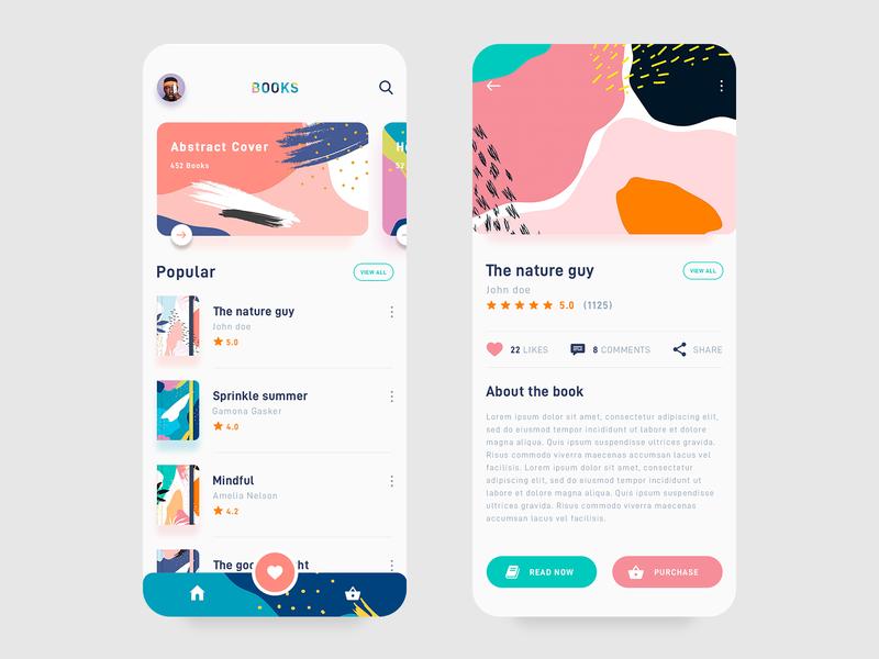 Books App app design books app product design print mobile typography branding books reading app trending ios abstract illustration reading app book