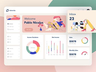 Dashboard design statistics chart graph illustration web web design website design website dashboard