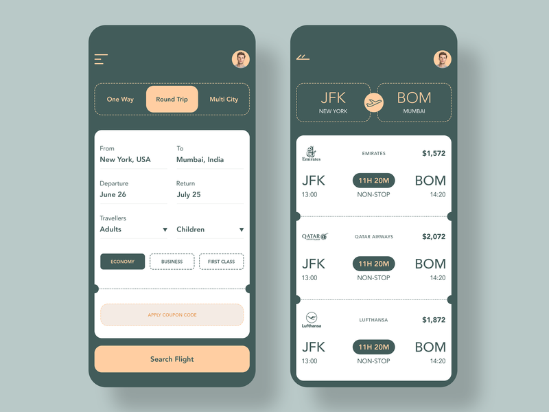 Flight Booking android ios uiux app design app cards booking app flight app design ux ui mobile mobile app flight app.booking