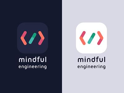 Mindful Engineering Logo product design branding blog code icon app icon logo mindful mindful engineering