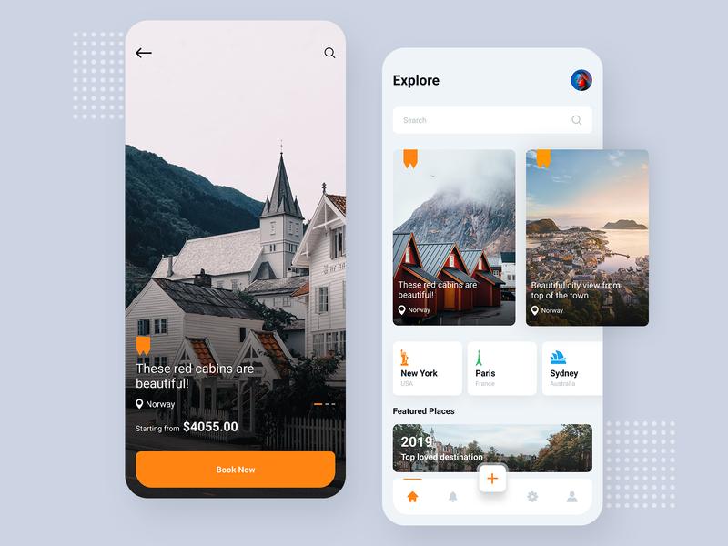Travel App search destination ios travel app design tourist app travel app