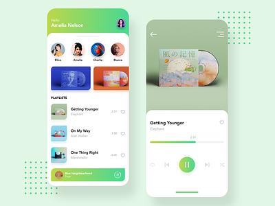 music App album design tune radio app music music app