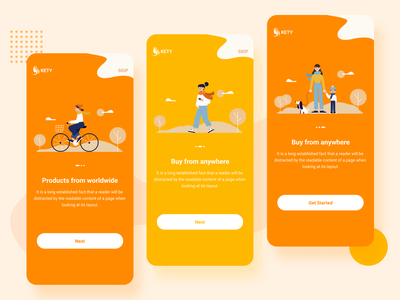 Onboarding Screens onboarding screen onboarding instrauction screens instruction illustrator design colorful app design app