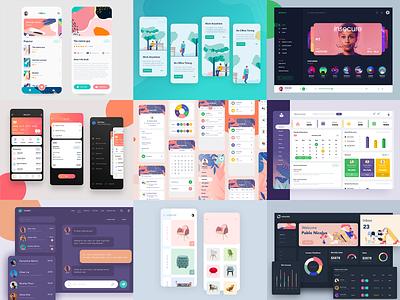 top shots of 2019 trending website dashbaord 2020 2019 app design works top shots
