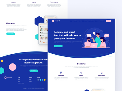 Landing page design webdesign website design illustration web website landingpage