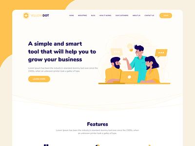 Landing page webdesign website design website web landingpage illustration