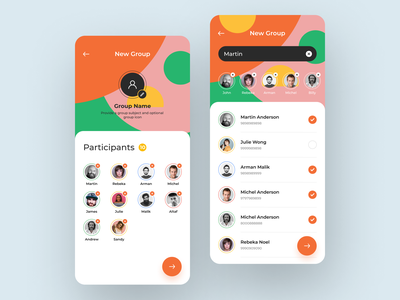 Messaging app create group messaging app message app message light create group create colorful design app app design
