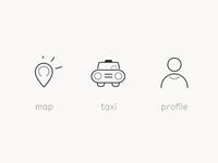 Taxi-Co icon set