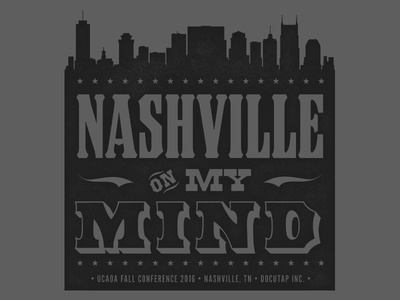 Conference Shirt Design (3 of 3) docutap vintage screen print hatch show print typography woodblock wood type nashville