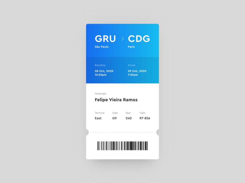Boarding Pass | Daily UI Challenge #023