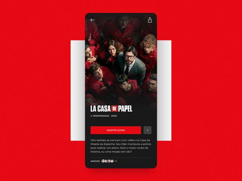 TV App | Daily UI Challenge #025 tv serie movies la casa de papel web clean design app app design amazon netflix clean ui