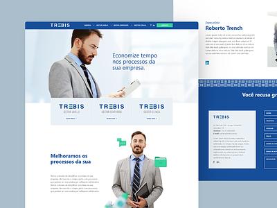 trebis corporative blue site web ui clean
