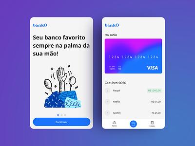 bank app digital bank bradesco itau inter nubank bank app design ui clean