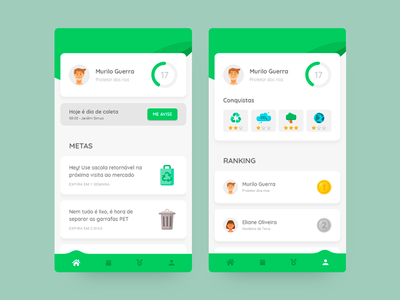 recycling app nature green mood design ui clean