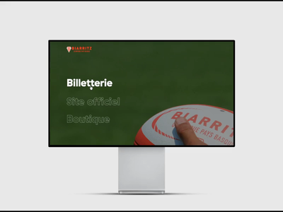 Website for French Rugby team Biarritz Olympique