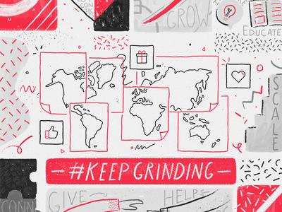 #KeepGrinding
