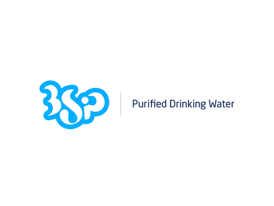 Logomark - 3Sip liquid stroke curves water branding brand logo
