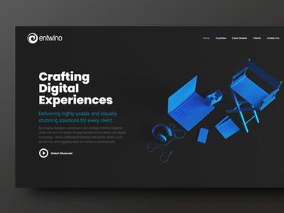 Webdesign - Entwino dark minimal webdesign ui homepage design web