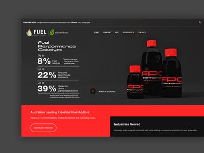 Web Design - Fuel Technology International ui homepage webdesign web