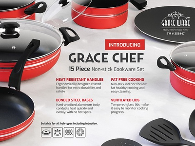 Grace Chef - Print Design cooking print cookware print ad
