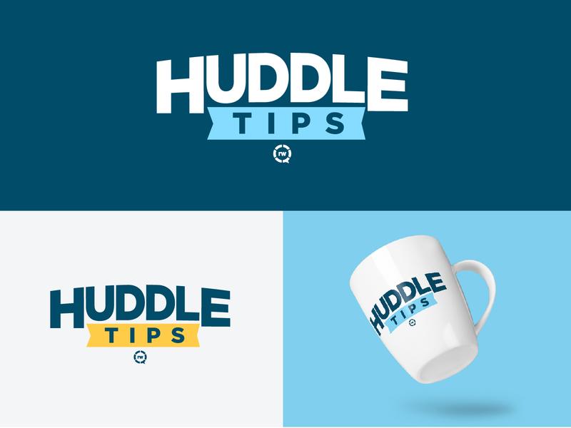 Huddle Tips dental care tips huddle dental identity branding design minimal vector mark brand flat logo simple