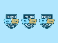 Partner Badge certified partner flag type minimal vector brand flat logo simple badge
