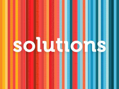 Solutions fun explore different mark wordmark pattern spectrum solution brand texture logo
