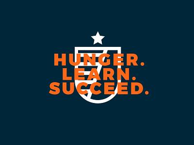 Academy Usage crest minimal modern simple academy star shield identity branding logo